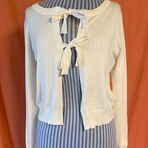 Modcloth Give It A Tie Sweater NWT, Size Large